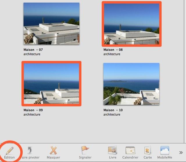 Peut-on comparer deux photos dans iPhoto ?