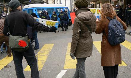 Manifestation anti-Wef de Genève