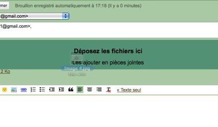 Nouveau sur Gmail: pièces jointes par glisser déposer et invitations