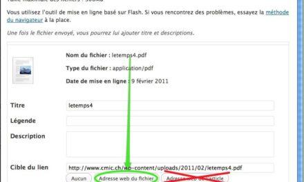 Fichier PDF et WordPress