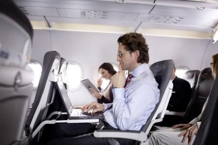 Divertissement et lecture en avion