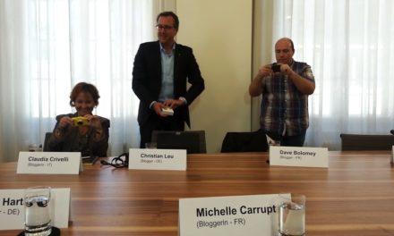Quand des blogueurs suisses rencontrent Doris Leuthard